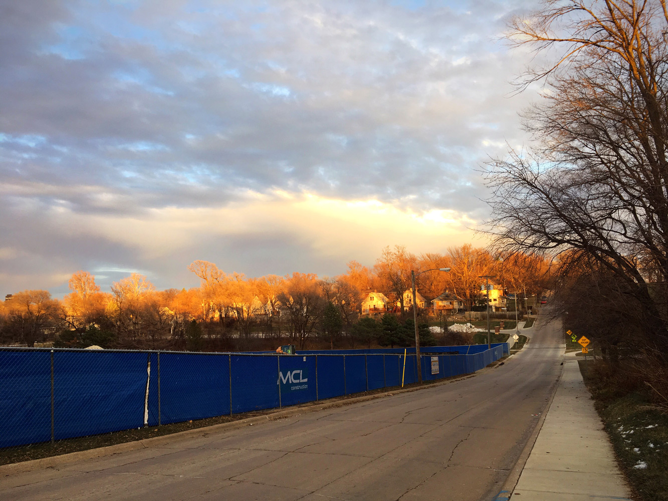 Update on Active Commuting in Omaha! - Lovely Sky During the Walk Home