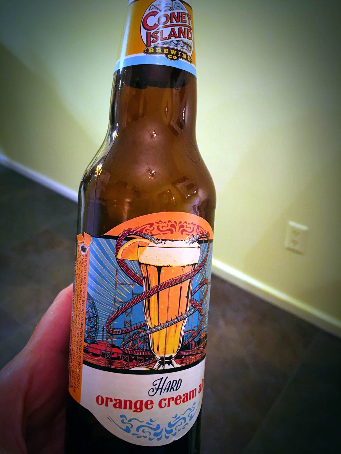 Orange Cream Ale on a Winter Day - Iced In - in Omaha