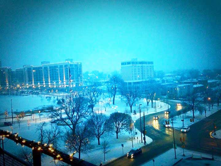 Condos at 3000 Farnam - My Favorite Winter View